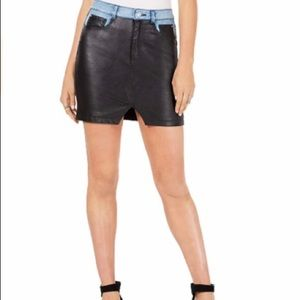 Guess Faux Leather Rebel Mini Skirt